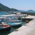 Fishing boats in Loutraki harbour