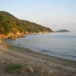 Five minutes walk to this little beach from Rosa's Harbourside Apartment Loutraki