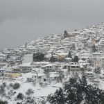 Most winters in Glossa see some snow and sometimes a lot