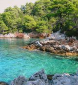 Hidden secret coves to explore near Glossa, Skopelos